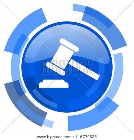 auction blue glossy circle modern web icon