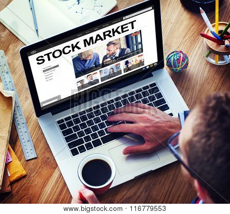 Stock Market Finance Economy Business Money Concept