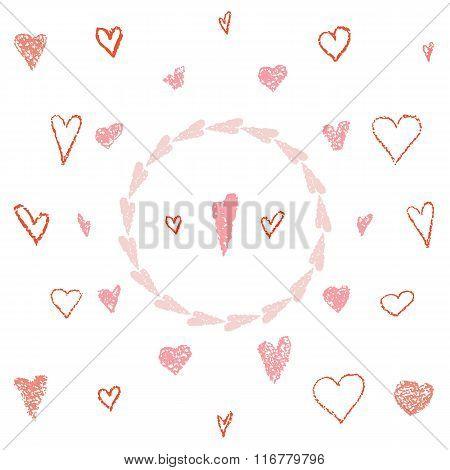Pastel hearts set