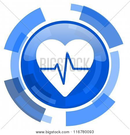 pulse blue glossy circle modern web icon