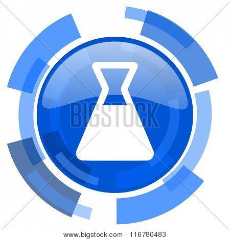 laboratory blue glossy circle modern web icon