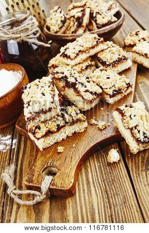 Homemade Cookies  With Fruit Jam