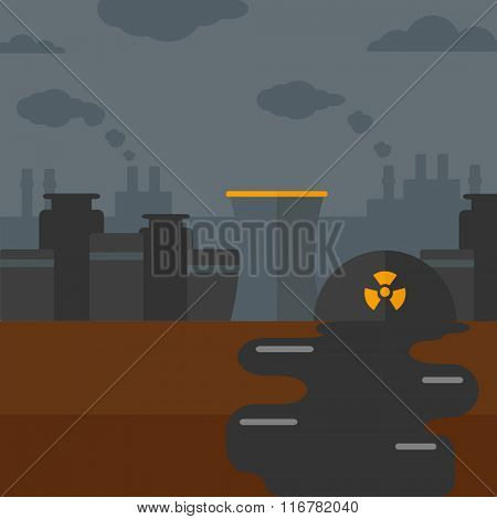 Background of nuclear power plant.