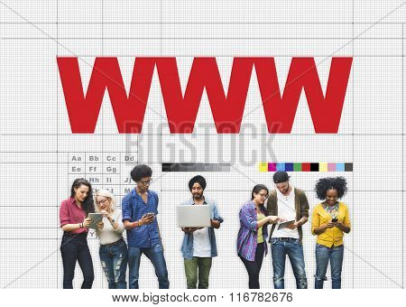 WWW Website Networking Connection Sharing Social Concept