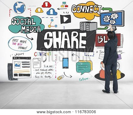 Share Networking Sharing Social Connection Media Concept