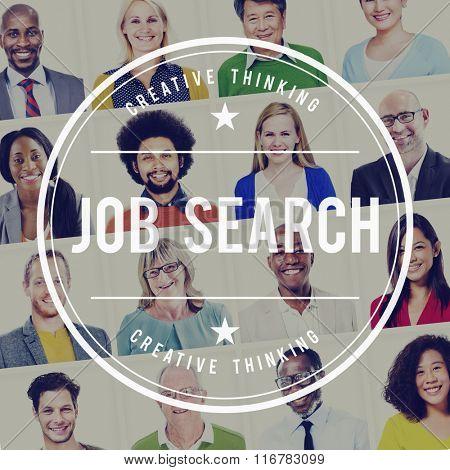 Job Search Recruitment Profession Concept