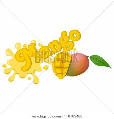 Vector mango splash