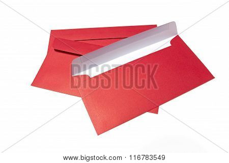 Red color envelope