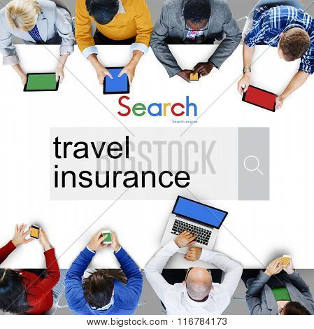 Travel Insurance Policy Security Protection Vacation Concept