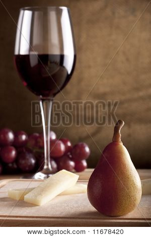 Pear, Cheese and Wine