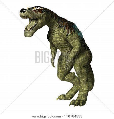 Dinosaur Tyrannosaurus Rex On White
