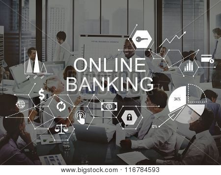 Online Banking Business Commercial Computing Concept
