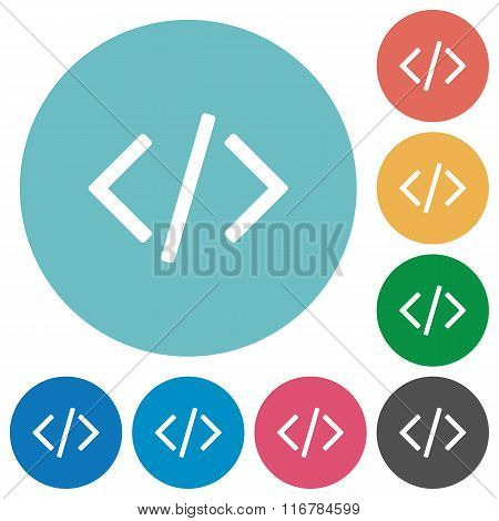 Flat Programming Code Icons