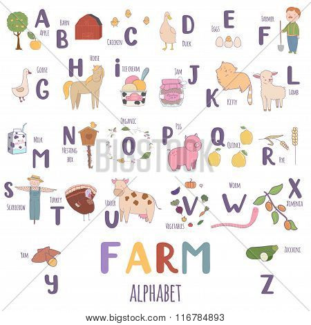 Cute Farm Alphabet