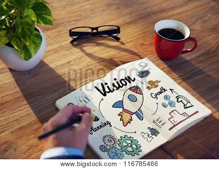 Vision Target Mission Goal Startup Concept