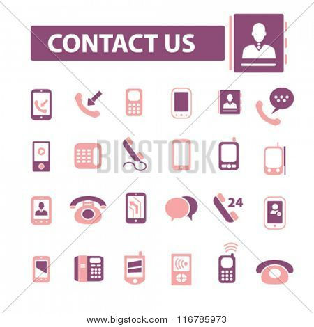 contact us, phone, cell, telephone icons