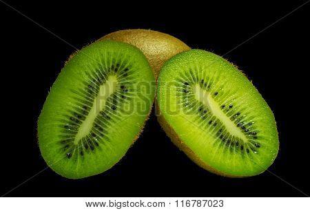 Kiwi close-up of juicy green