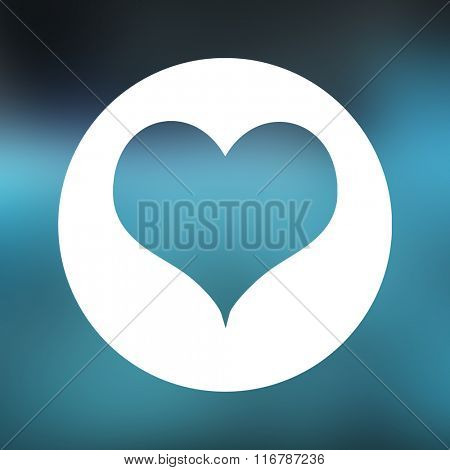 Blue round with heart against blue periodic tablet with dna strand