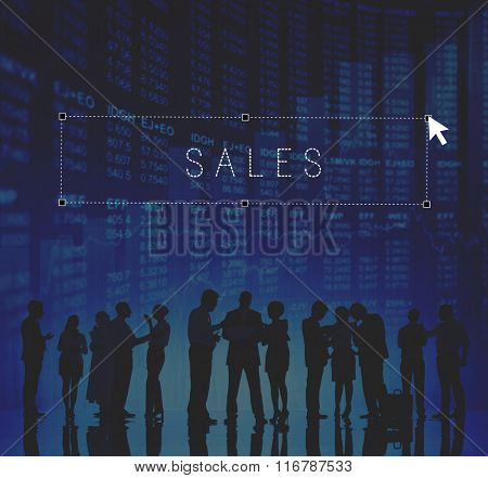 Sales Sell Selling Retail Costs Commerce Finance Concept
