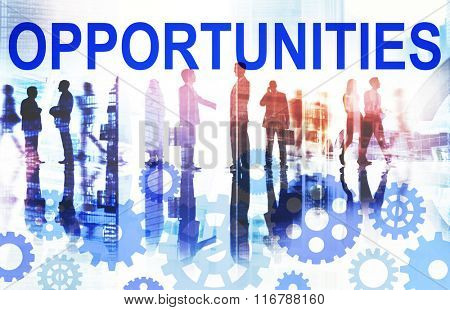 Opportunities Opportunity Chance Choice Decision Concept