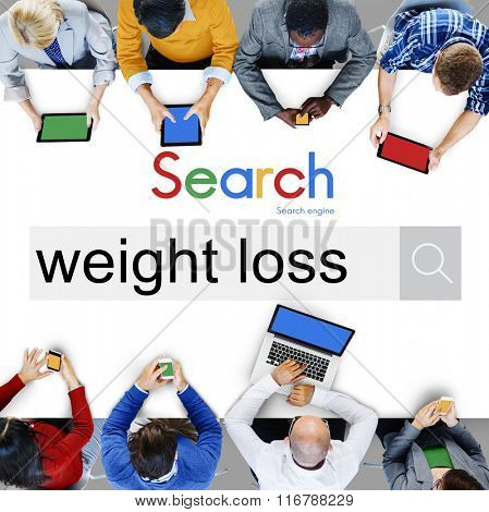 Weight Loss Diet Cardio Balance Nutrition Slim Concept