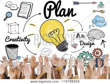 Plan Creative Strategy Planning Support Concept