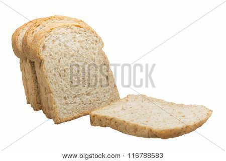 Slice Of The Toast Bread Isolated On White Background