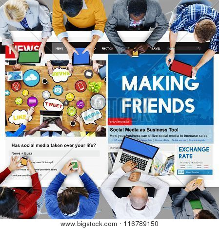 Making Friends Relationship Friendly Connection Concept