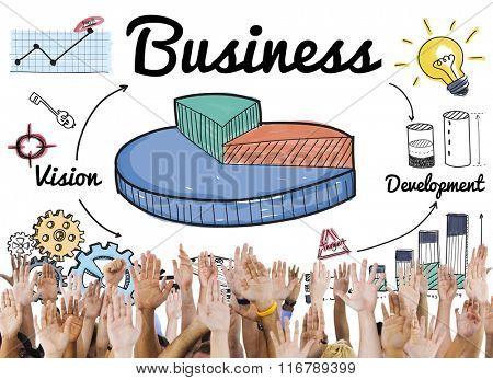 Business Growth Launch Success Enterprise Concept