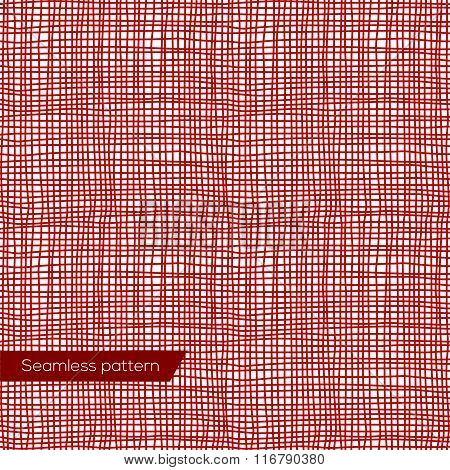 Seamless texture of red canvas