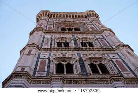 ZAGREB, CROATIA - JUNE 05: Bell tower of the Cattedrale di Santa Maria del Fiore (Cathedral of Saint Mary of the Flower) is the main church of Florence, Italy on June 05, 2015