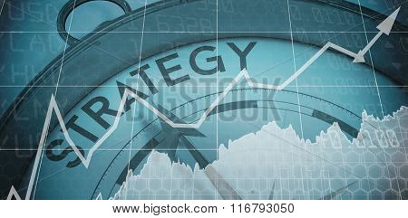 Stocks and shares against compass pointing to strategy