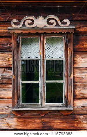 Rustic wooden window