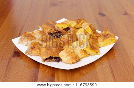 Strudel with apple and pumpkin