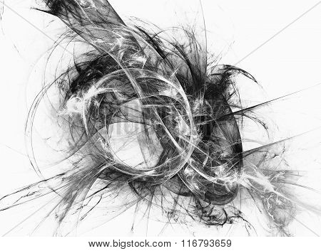 Abstract fractal black and white image