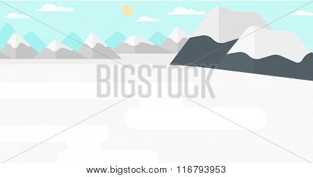 Background of snow capped mountain.