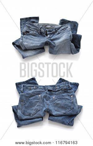 Erasing blue jeans for women.