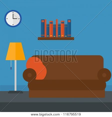 Background of furnished room