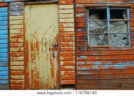Neglected wooden shed