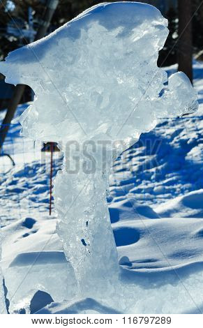 The Melting Of The Ice Figure.