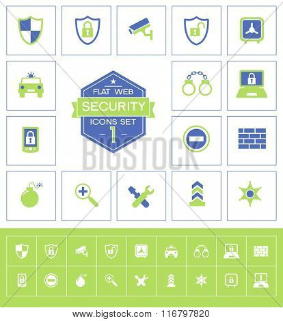 Vector security icons set.Trendy security vector elements.  Modern flat design.