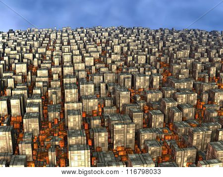 Computer Rendered Virtual City