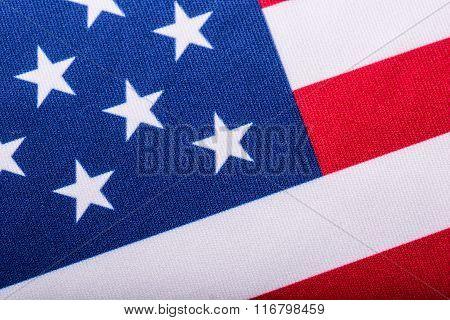 USA flag. American flag. Close-up. Studio shot