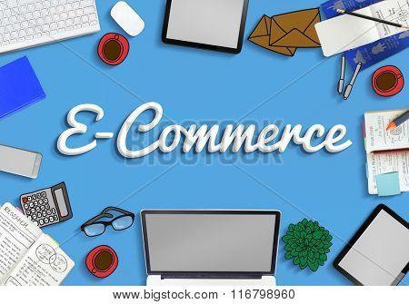 E-Commerce Business Marketing Connection Concept