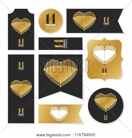 Collection Of Valentine's Day Cards, Love Heart