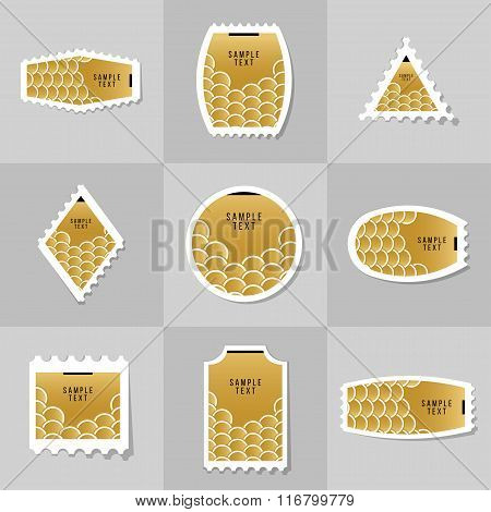Collection Of Gold Fish Or Snake Scales Postage Stamp