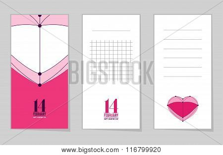 Collection Of Valentine's Day Notebook, Love Heart