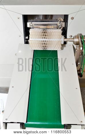 The Conveyor At The Plant For The Production Of Soap
