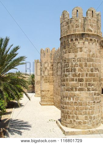 Tower Of Ribat (fortress) In The Town Of Sousse.