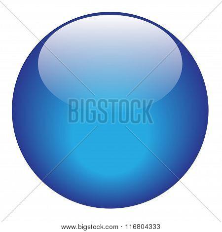 Blue Glossy Ball Vector Illustration